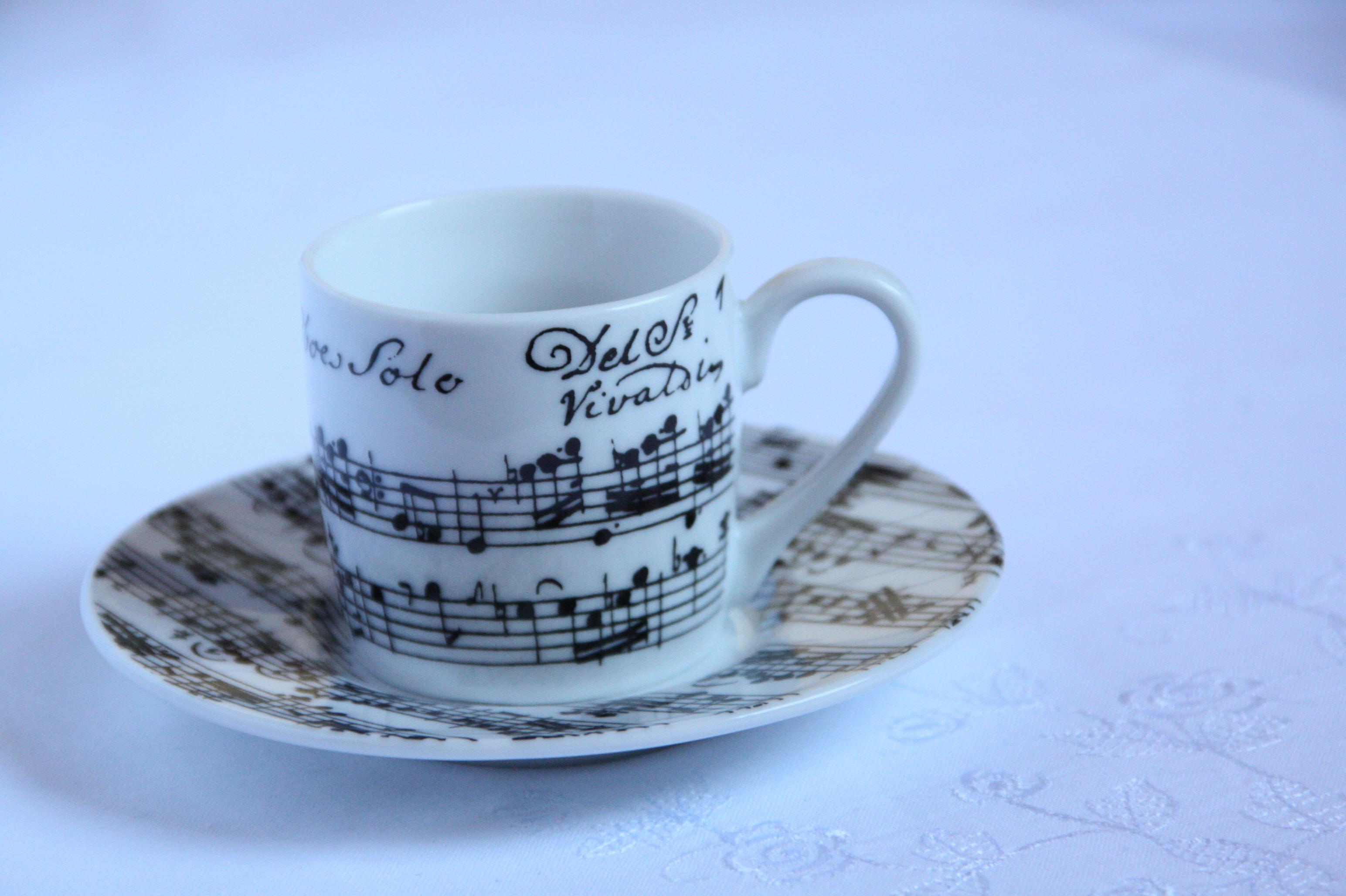 楽譜 コーヒーカップ